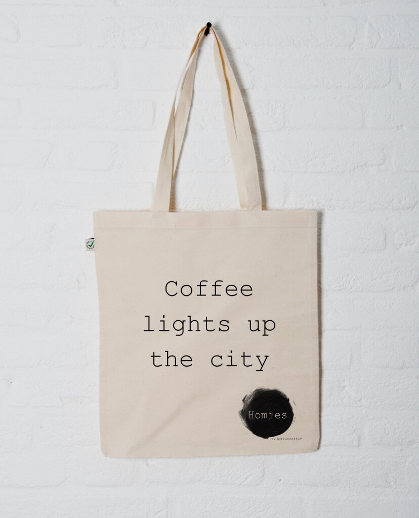 Homies Tote Bag Coffee lights up the city
