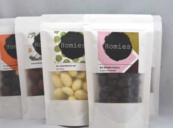 Amandelen Wit Kokos - HOMIES Biologische Amandelen witte chocolade kokos